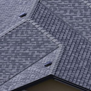 residential roofing company has installed new roof in subdivision.