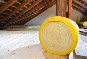 Roll Of Insulation In The Attic
