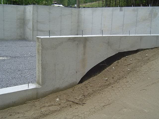 Picture of a home's foundation