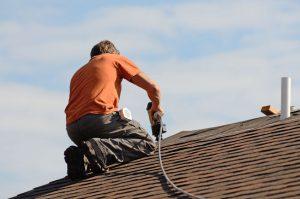Man Installing Shingles